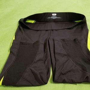 Filas Sport Black/Green Athletic Capris